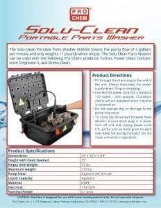 Solu-Clean PW Flyer pic