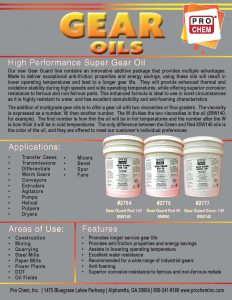 Gear Oil Flyer Pic